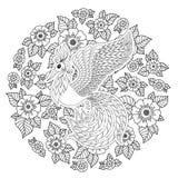 Firebird para la página anti del colorante de la tensión con los altos detalles Imagen de archivo libre de regalías
