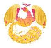 Firebird phoenix vector picture. Firebird phoenix vector cartoon illustration Royalty Free Stock Photo