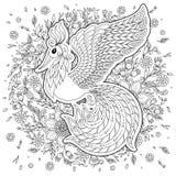 Firebird pour l'anti page de coloration d'effort avec les détails élevés Photos stock
