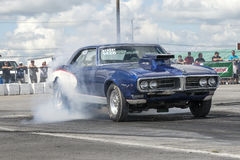 Firebird smoke show Stock Photo