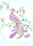 Firebird und Blume lizenzfreie abbildung