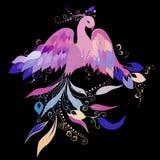 Firebird. Vector. Beautiful Sunbird on a white background. Vector Stock Images