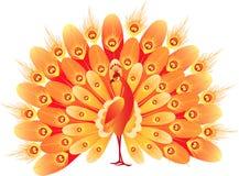 Firebird. Vector image of a fiery decorative bird Royalty Free Stock Photography