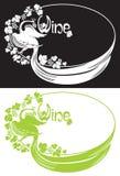 Firebird and wine frame. Vector illustration firebird and wine frame Royalty Free Stock Photography