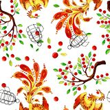 Firebirdpatroon stock illustratie
