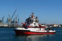 Fireboat ЛА стоковое изображение