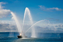 Fireboat Royalty-vrije Stock Fotografie