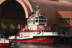 Fireboat della LA Fotografie Stock