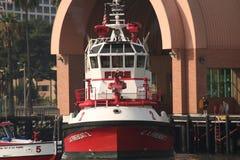 fireboat los angeles Zdjęcie Stock