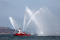 Fireboat Pumping Display Stock Photos