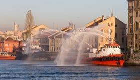 Fireboat Royalty Free Stock Photos