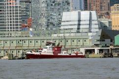343 fireboaten NYC Tom Wurl Arkivbilder