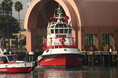 fireboatla Royaltyfri Fotografi