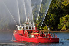 fireboatpotomac flod Arkivfoto