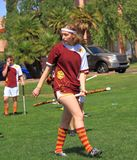 USA, AZ: Rare Sport - Quidditch >Riding a Firebolt Royalty Free Stock Image
