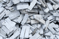 Firebrick. A bunch of scruffy firebrick Royalty Free Stock Photo
