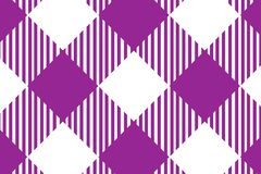 Firebrick Gingham pink and white pattern. Texture from rhombus/squares for - plaid, tablecloths, clothes, shirts, dresses, paper stock illustration