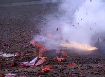 Firecracker ανατίναξη στοκ εικόνα