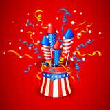 Firecracker from American Flag. Vector illustration of Firecracker from American Flag Stock Images
