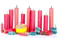 Firecracker assortment Royalty Free Stock Photos