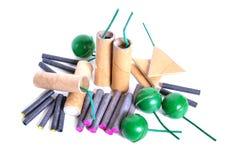 Firecracker cracker, noise maker, banger, or bunger. Isolated Stock Photography