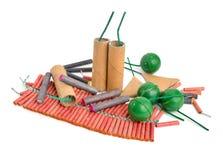 Firecracker cracker, noise maker, banger, or bunger. Isolated Royalty Free Stock Image