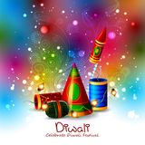 Firecracker for Happy Diwali holiday background stock illustration