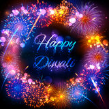 Firecracker on Happy Diwali Holiday background for light festival of India Royalty Free Stock Image