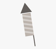 Firecracker icon illustrated. On a white background Royalty Free Stock Photography