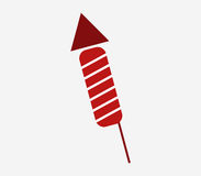 Firecracker icon illustrated. On a white background Royalty Free Stock Image