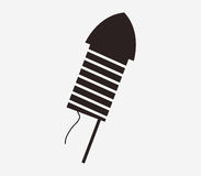 Firecracker icon illustrated. On a white background Stock Image