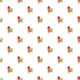 Firecracker pattern, cartoon style. Firecracker pattern. Cartoon illustration of firecracker vector pattern for web Stock Photos