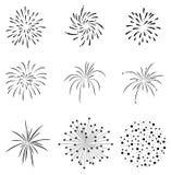 Firecrackers καθορισμένα διανυσματικά Στοκ Φωτογραφίες