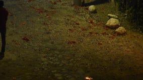 Firecrackers στη νέα παραμονή Γουατεμάλα ετών απόθεμα βίντεο