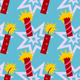 Firecrackers seamless background design Stock Images