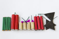 Firecrackers on a white background Royalty Free Stock Photography