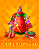Firecraker sortido para a celebração de Diwali Imagens de Stock Royalty Free