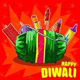 Firecraker sortido para a celebração de Diwali Fotografia de Stock Royalty Free