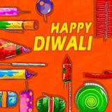 Firecraker sortido para a celebração de Diwali Foto de Stock Royalty Free