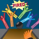 fired stock illustratie