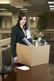 Fired. Young Caucasian Professional Woman Fired From Work Stock Images