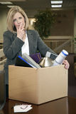 Fired. Middle-aged Caucasian Professional Woman Fired From Work Royalty Free Stock Photography