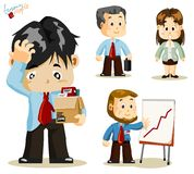 Fired. Business People. Fired. Set of people about Business activity in office. Detailed Vector Series Royalty Free Stock Images