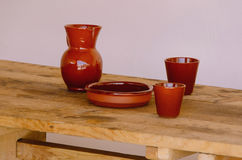 Fired clay kitchenware Stock Photo