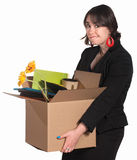 Fired Female Employee Royalty Free Stock Image