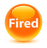 Fired glassy orange round button Royalty Free Stock Photo