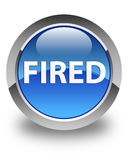 Fired glossy blue round button Royalty Free Stock Photos