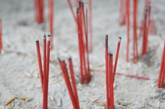 Fired Joss Stick Royalty Free Stock Images