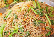 Fired local noodles  Hokkien Mee Royalty Free Stock Images