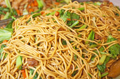 Fired local noodles  Hokkien Mee Royalty Free Stock Image